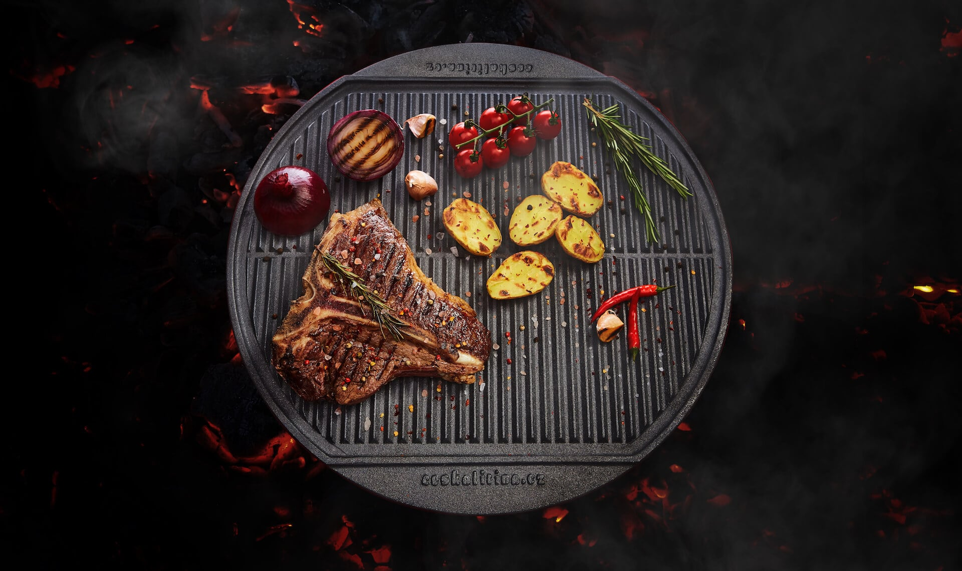 Česká litina - kulatý tál a steak