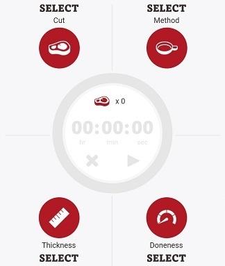 Chytrá aplikace grilování